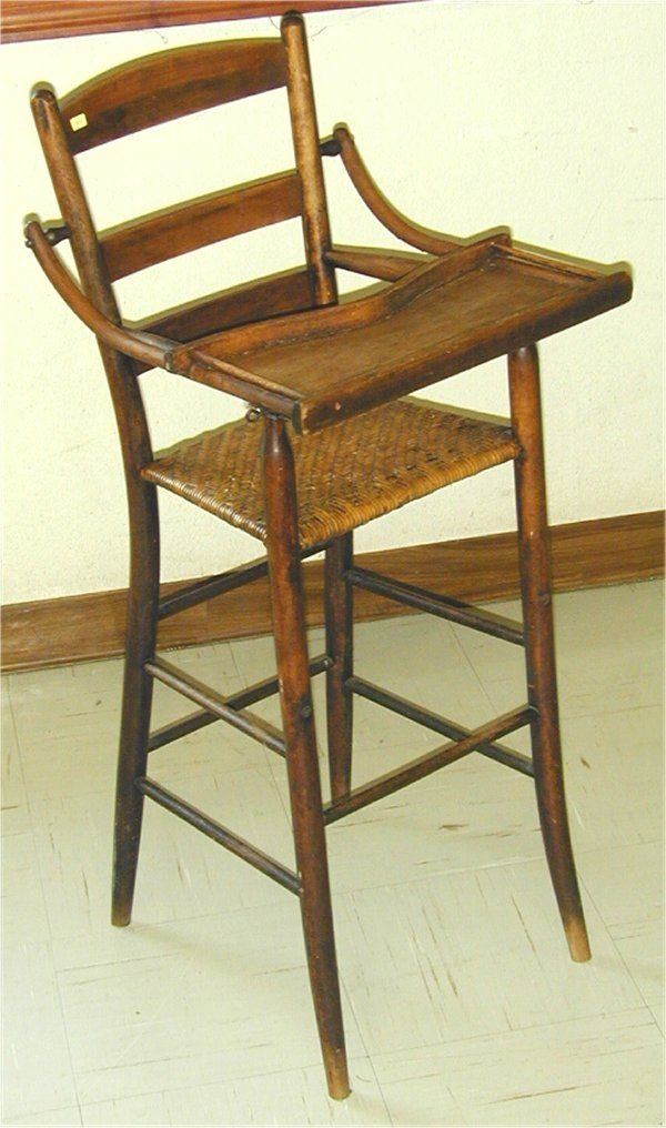5018: CHILD'S HIGH CHAIR W/WOVEN CANED SEAT