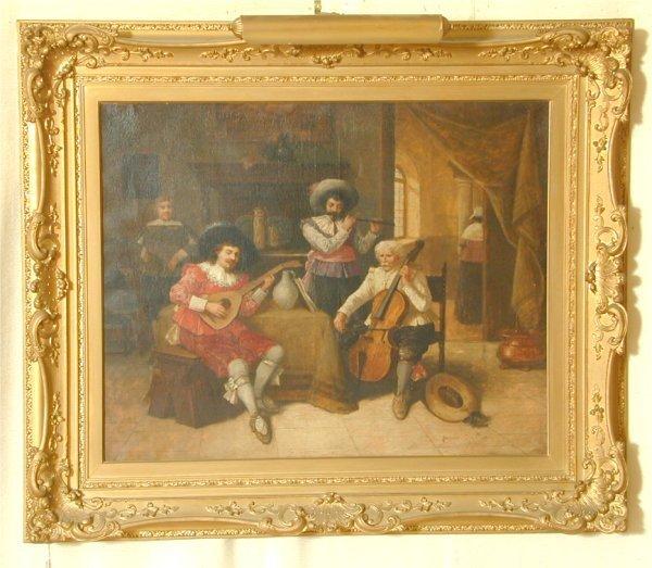 "5347: FRANCOIS DUMONT  (1850-?) OIL ON CANVAS ""THE REHE"