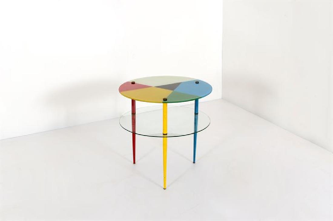 PAOLI EDOARDO_x000D_ Tavolino mod. Arlecchino
