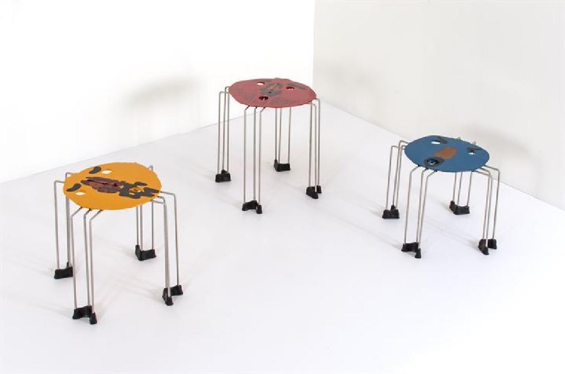 """PESCE GAETANO_x000D_ Tre tavolini della serie """"Triple"""