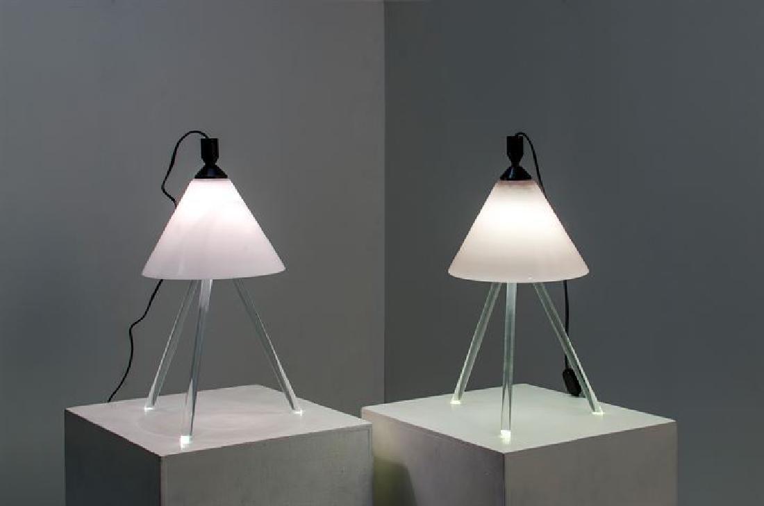 SANTACHIARA DENIS_x000D_ Coppia di lampade da tavolo