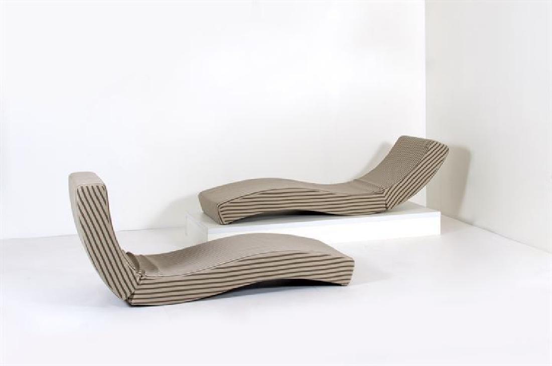 LENTI PAOLA_x000D_ Due chaises longue mod. Wave