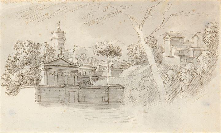 """ZOCCHI GIUSEPPE (Ambito di) 1711-1767 """"Paesaggio con"""