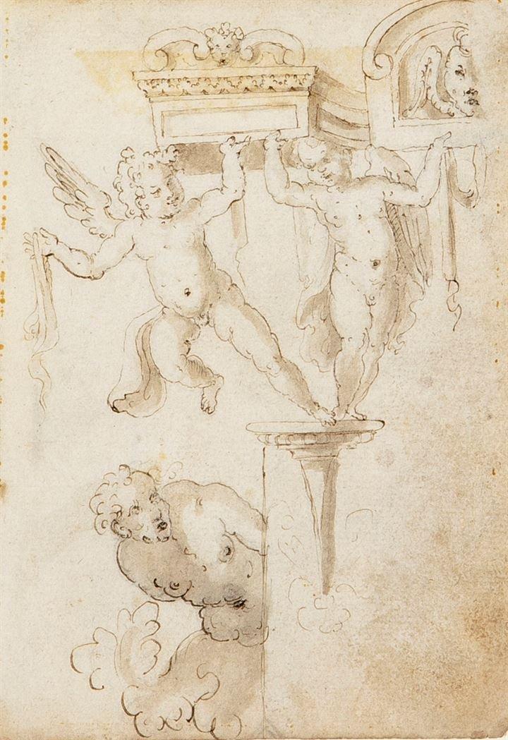 """ALBERTI CHERUBINO (ambito di) 1553-1615 """"Cherubini e"""
