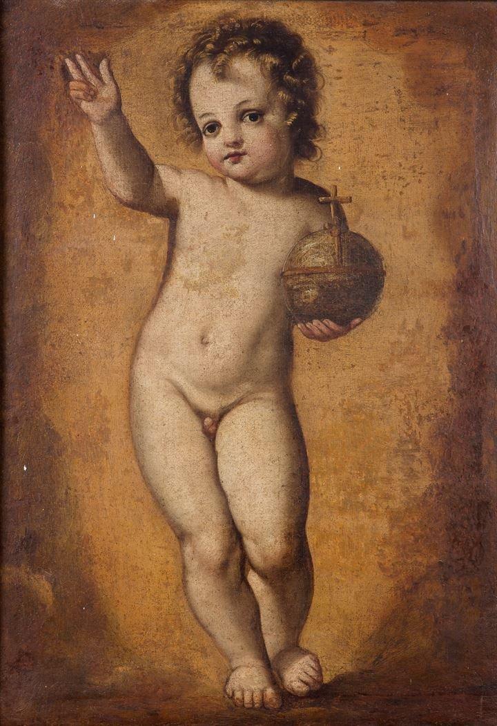 """PITTORE ANONIMO DEL XVIII SECOLO """"Gesù Bambino"""