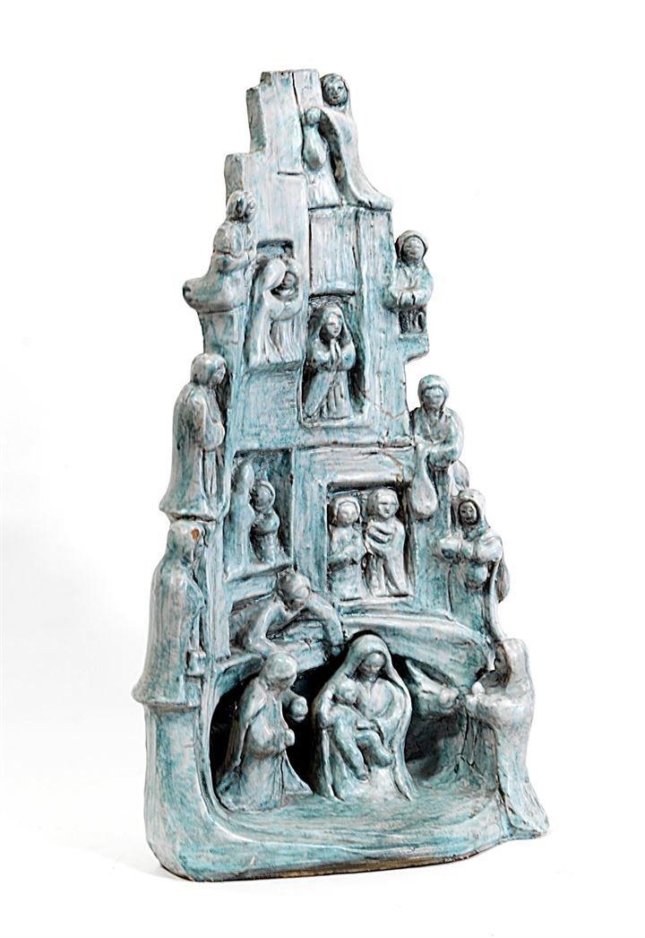 ROSSICONE GIUSEPPE Presepe in terracotta policroma
