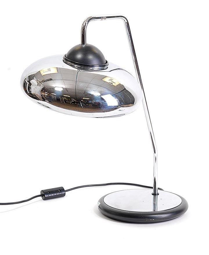 STILNOVO Lampada da tavolo in metallo cromato e laccato