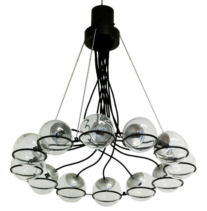 SARFATTI GINO 2095/9 Lampadario  con diffusori in vetro