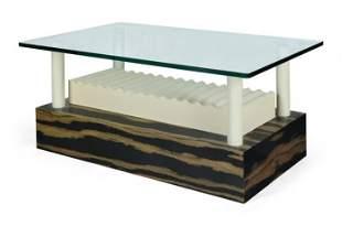 SOTTSASS ETTORE Tavolino in legno laminato laccato,