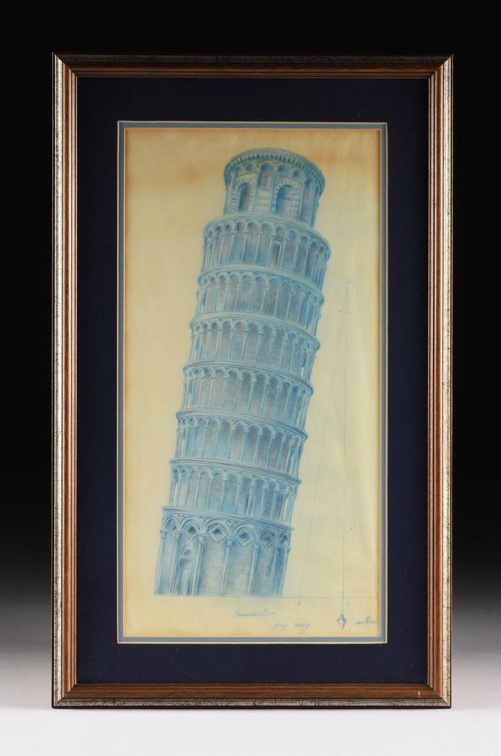 ARCHITECTURAL RENDERING OF TOWER OF PISA, ITALY, EARLY - 2