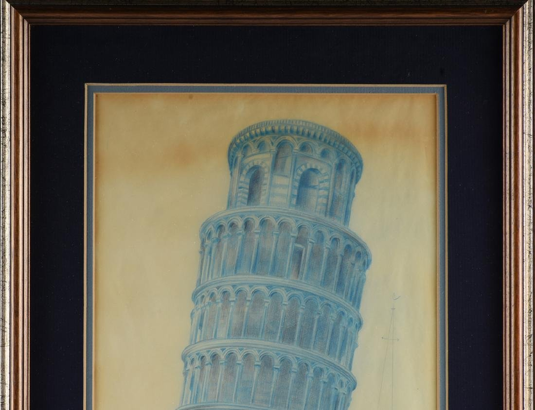 ARCHITECTURAL RENDERING OF TOWER OF PISA, ITALY, EARLY - 3