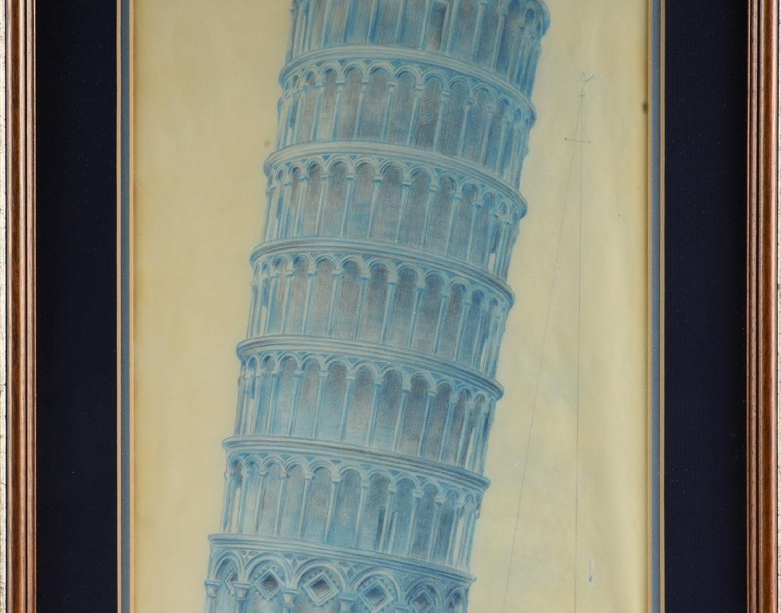ARCHITECTURAL RENDERING OF TOWER OF PISA, ITALY, EARLY - 4