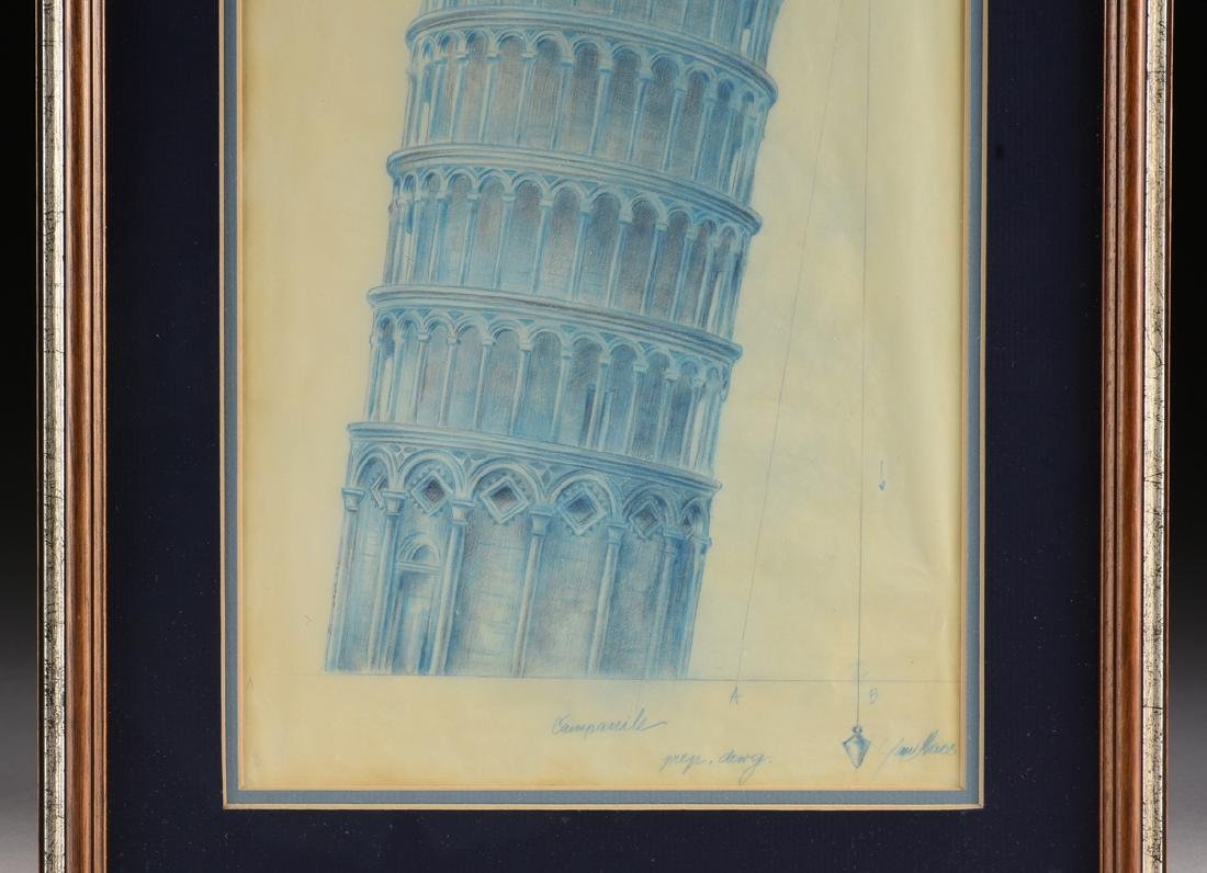 ARCHITECTURAL RENDERING OF TOWER OF PISA, ITALY, EARLY - 5