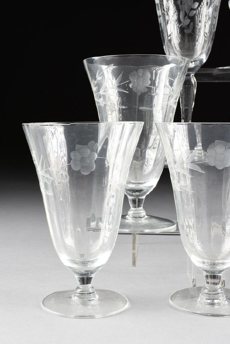 A SET OF ELEVEN CONTINENTAL ENGRAVED OPTIC CRYSTAL - 2