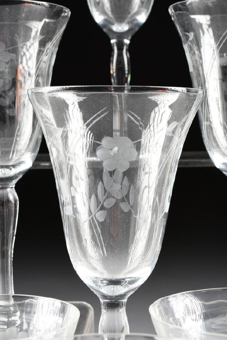 A SET OF ELEVEN CONTINENTAL ENGRAVED OPTIC CRYSTAL - 3