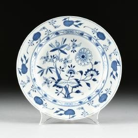 """A MEISSEN STYLE PORCELAIN CHARGER IN THE """"BLUE ONION"""""""