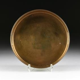 A MID CENTURY MODERN INDIAN PATINATED BRASS OVER COPPER