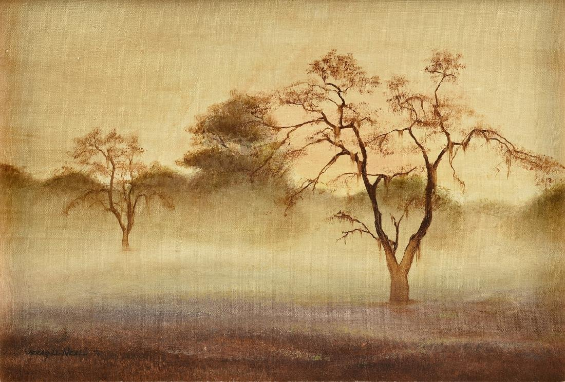 "JERRY D. NEAL (American 20TH CENTURY), A PAINTING, ""Fog"