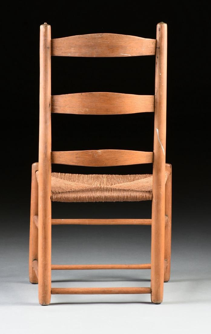 A GROUP OF THREE CHAIRS AND TWO STOOLS, - 10