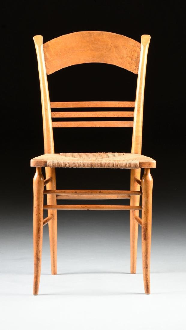 A GROUP OF THREE CHAIRS AND TWO STOOLS, - 3