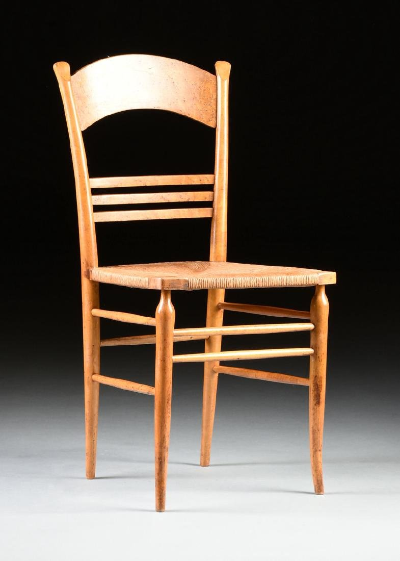 A GROUP OF THREE CHAIRS AND TWO STOOLS, - 4