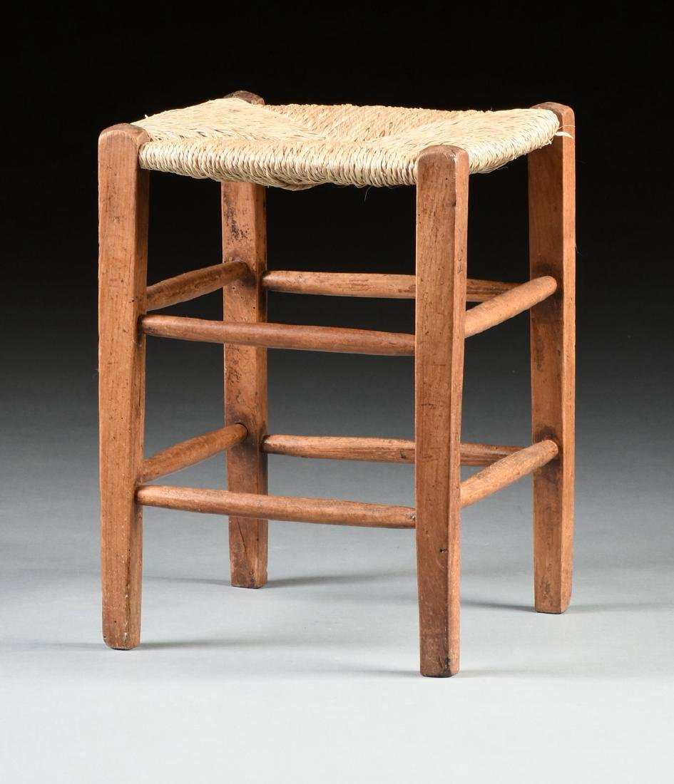 A GROUP OF THREE CHAIRS AND TWO STOOLS, - 5