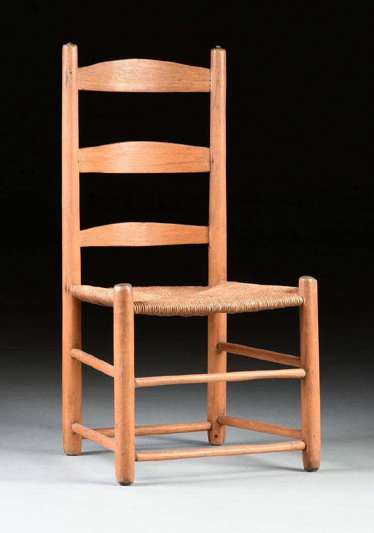 A GROUP OF THREE CHAIRS AND TWO STOOLS, - 7
