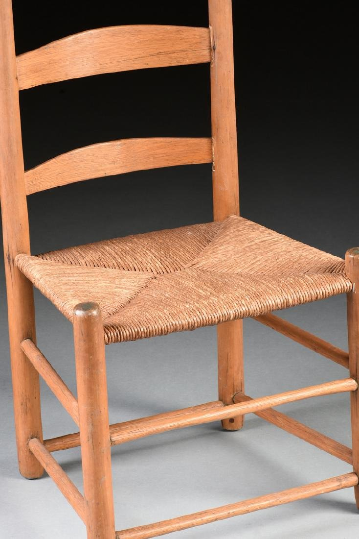A GROUP OF THREE CHAIRS AND TWO STOOLS, - 8