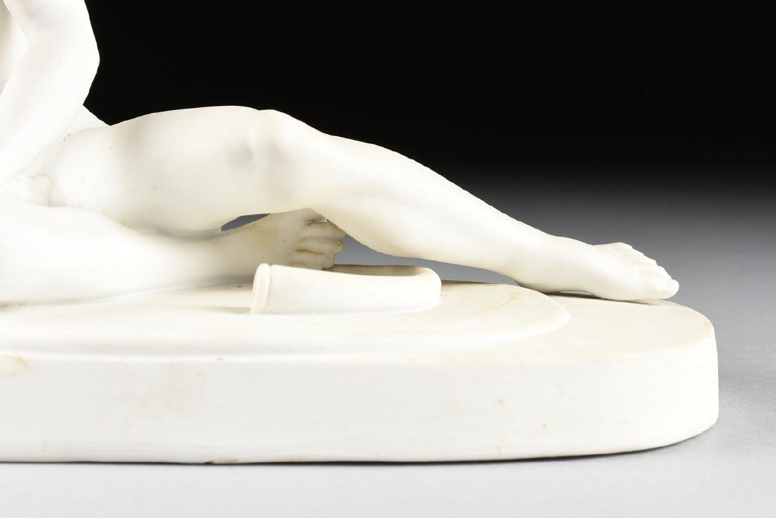 "A GERMAN BISQUE PORCELAIN FIGURE OF ""THE DYING GAUL, - 3"