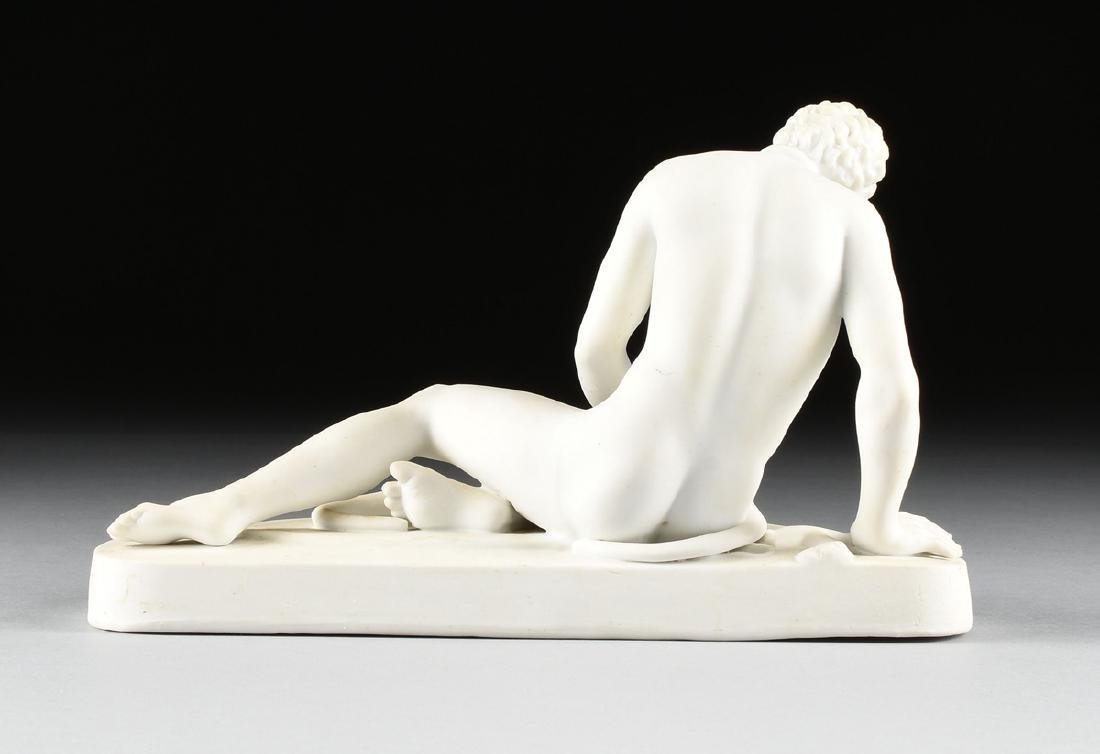 "A GERMAN BISQUE PORCELAIN FIGURE OF ""THE DYING GAUL, - 4"