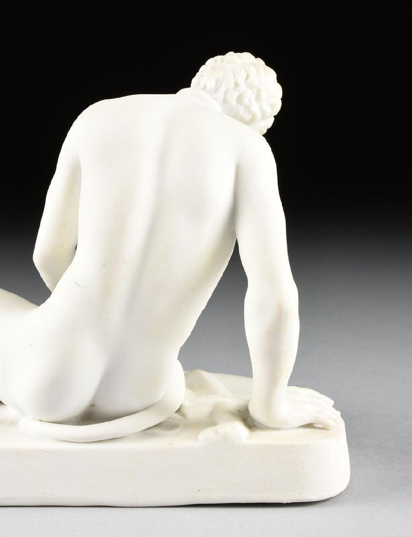 "A GERMAN BISQUE PORCELAIN FIGURE OF ""THE DYING GAUL, - 5"