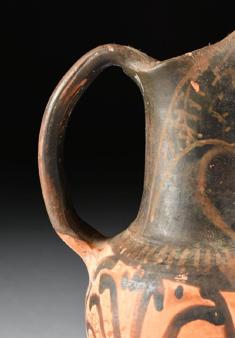 A PAIR OF ETRUSCAN STYLE BLACK FIGURE TREFOIL OINOCHOES - 5