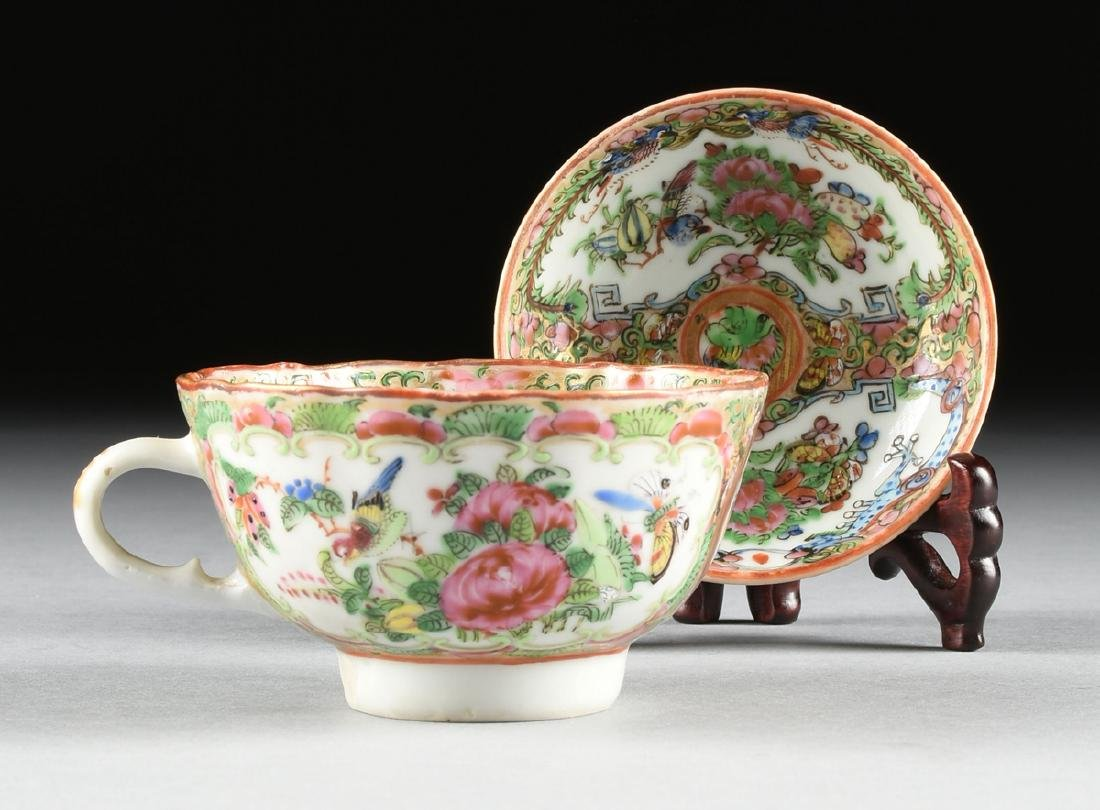 """A CHINESE EXPORT PORCELAIN """"ROSE MEDALLION"""" PATTERN - 6"""