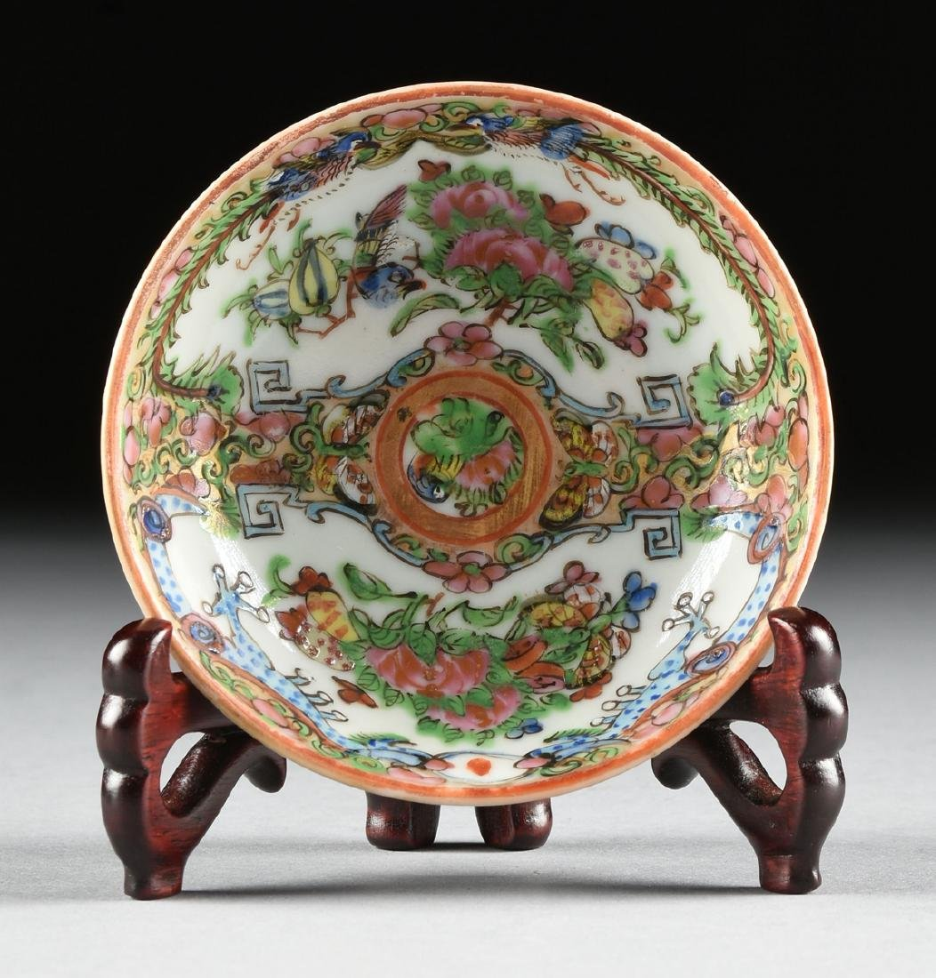 """A CHINESE EXPORT PORCELAIN """"ROSE MEDALLION"""" PATTERN - 8"""