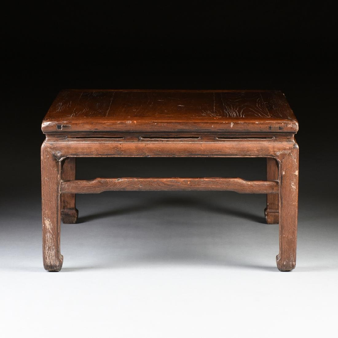 A CHINESE CARVED ELM LOW TABLE, 20TH CENTURY, - 3