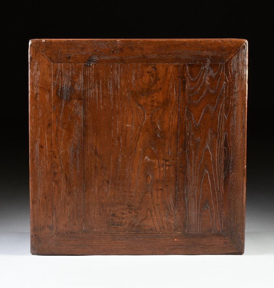 A CHINESE CARVED ELM LOW TABLE, 20TH CENTURY, - 6
