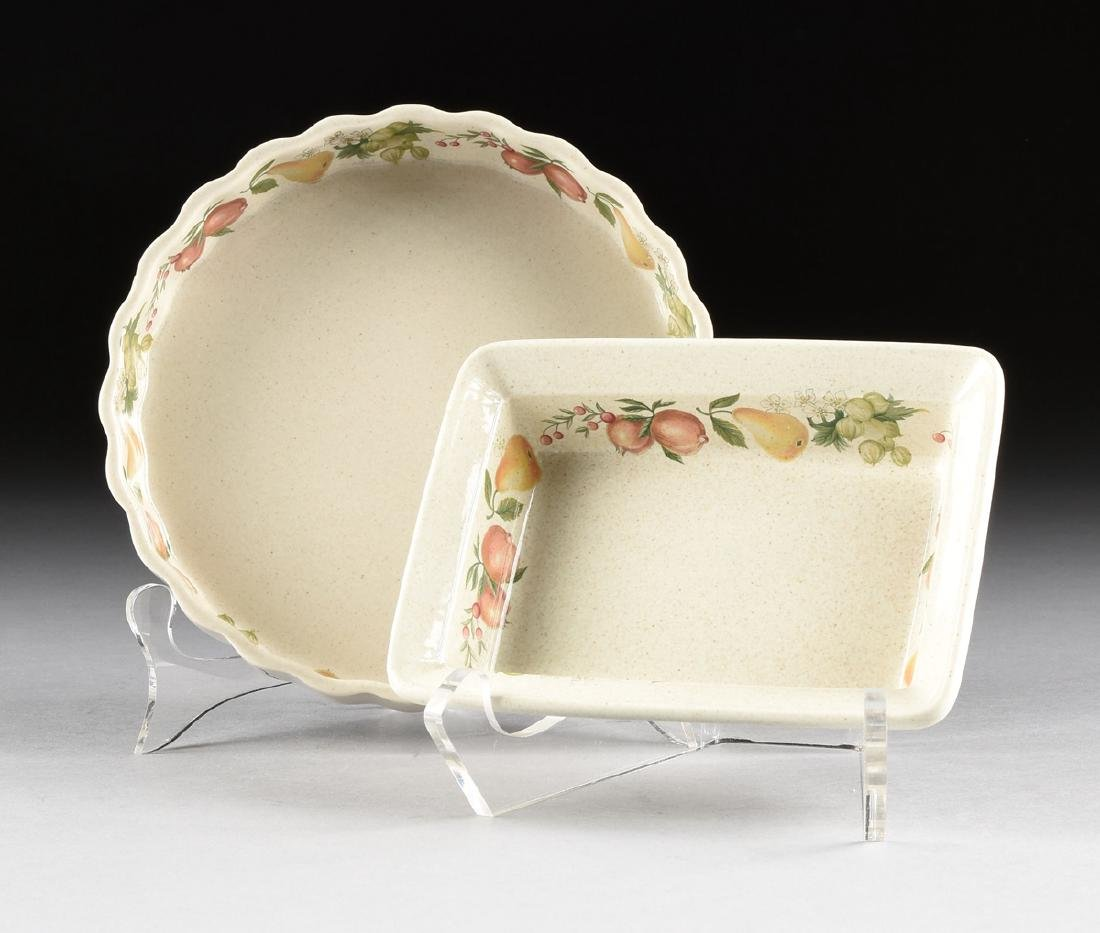 """A SET OF WEDGWOOD """"QUINCE"""" PATTERN OVEN-TO-TABLE - 10"""