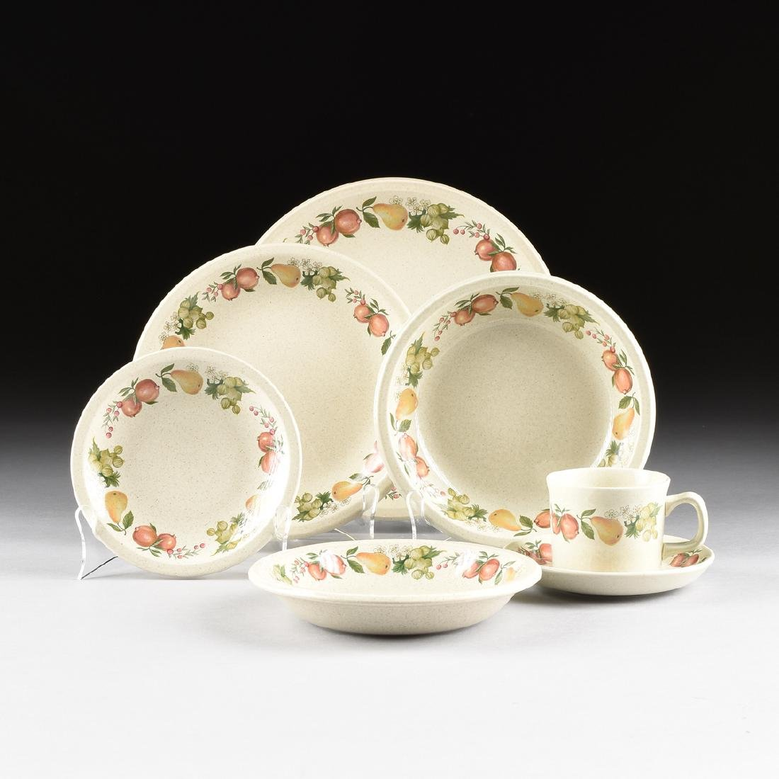 """A SET OF WEDGWOOD """"QUINCE"""" PATTERN OVEN-TO-TABLE"""