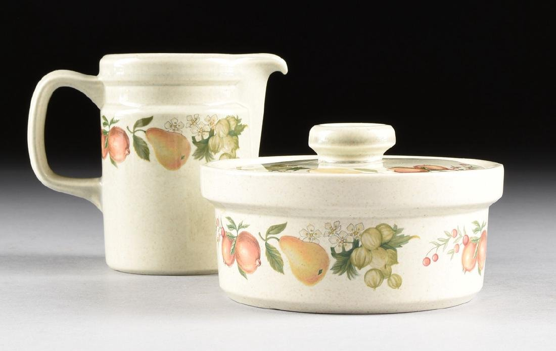"""A SET OF WEDGWOOD """"QUINCE"""" PATTERN OVEN-TO-TABLE - 7"""