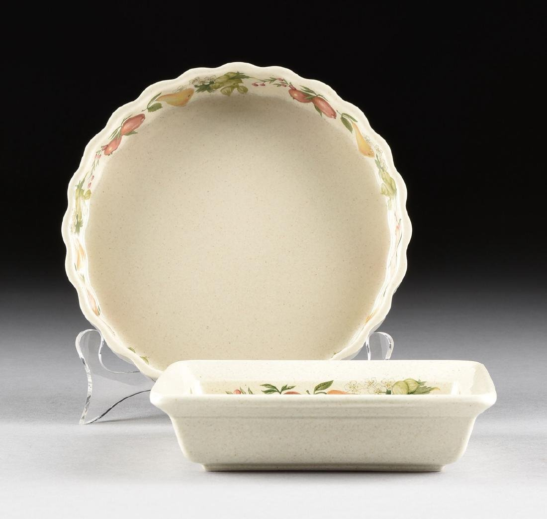"""A SET OF WEDGWOOD """"QUINCE"""" PATTERN OVEN-TO-TABLE - 9"""