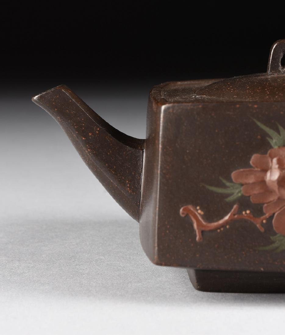 A CHINESE RED STONEWARE TEAPOT, YIXING PROVINCE, LATE - 2