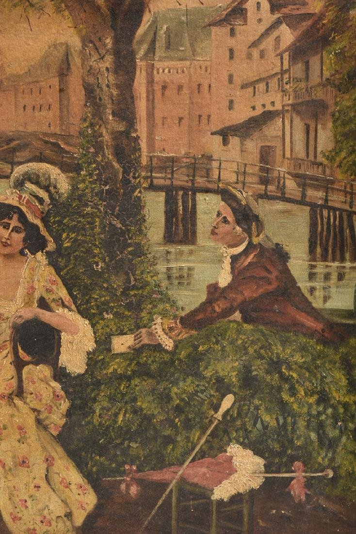 "M. GONZALEZ, ""La Carta,"" A SPANISH PAINTING, 19TH - 3"