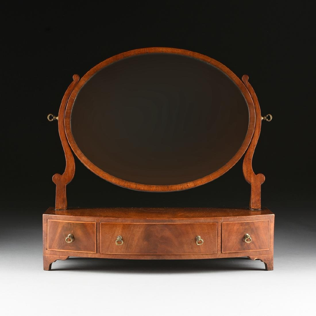 A LATE VICTORIAN/EDWARDIAN GENTLEMAN'S FLAME MAHOGANY