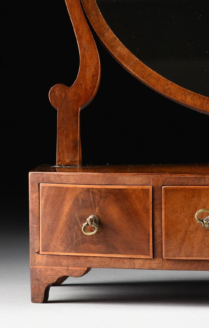 A LATE VICTORIAN/EDWARDIAN GENTLEMAN'S FLAME MAHOGANY - 2