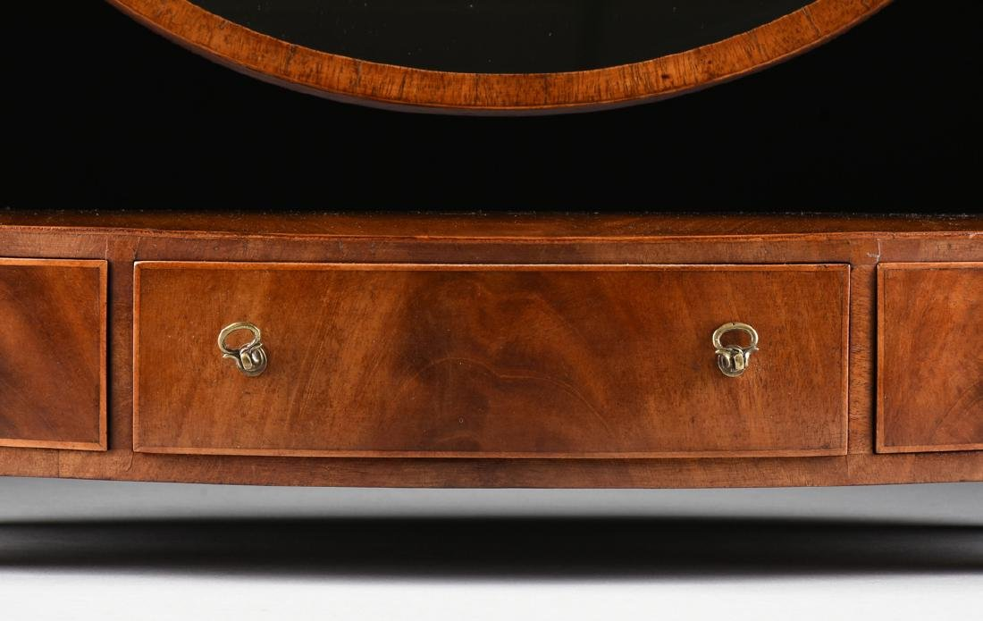 A LATE VICTORIAN/EDWARDIAN GENTLEMAN'S FLAME MAHOGANY - 4