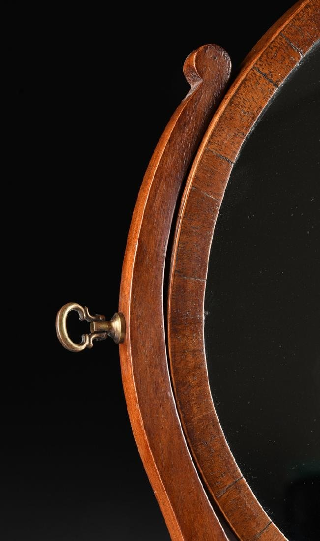 A LATE VICTORIAN/EDWARDIAN GENTLEMAN'S FLAME MAHOGANY - 7