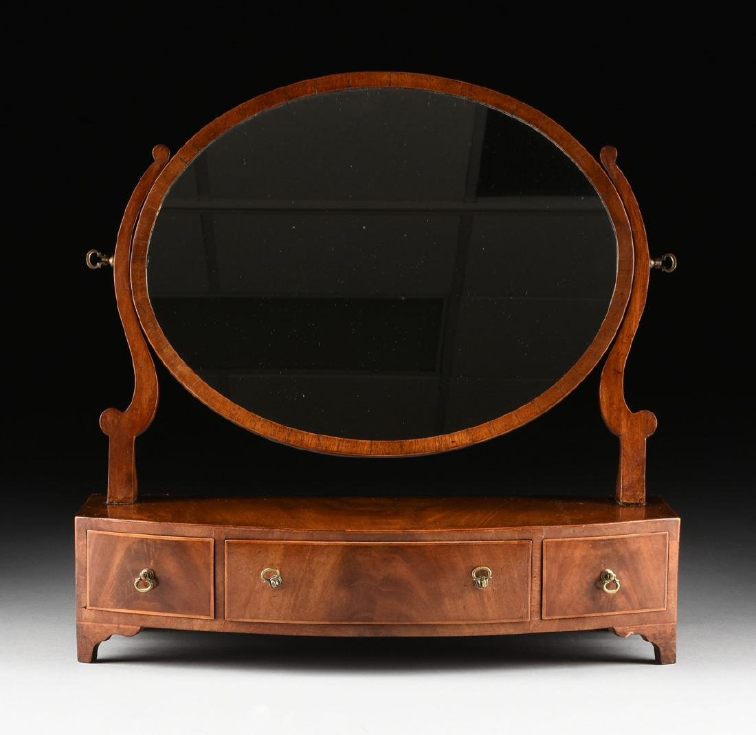 A LATE VICTORIAN/EDWARDIAN GENTLEMAN'S FLAME MAHOGANY - 8