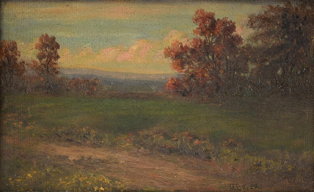 GRINDAGE BOYER (New York 1855-1926) A PAINTING,