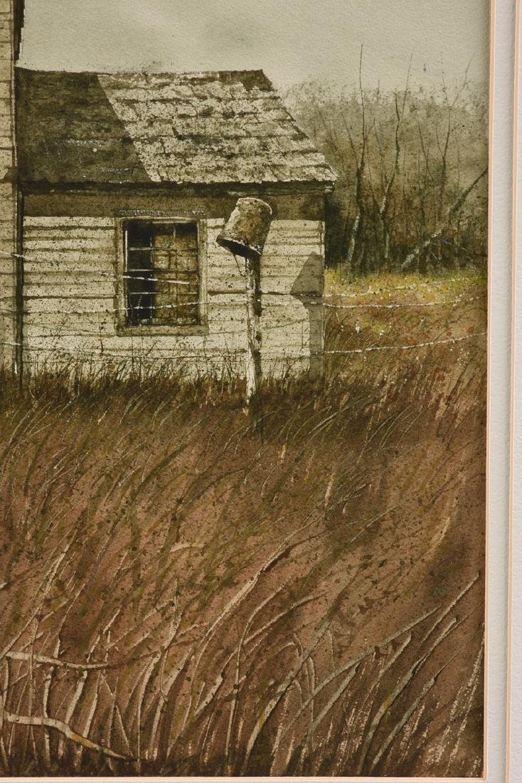 "WELLS (American 20th Century) A PAINTING, ""Farm House,"" - 6"