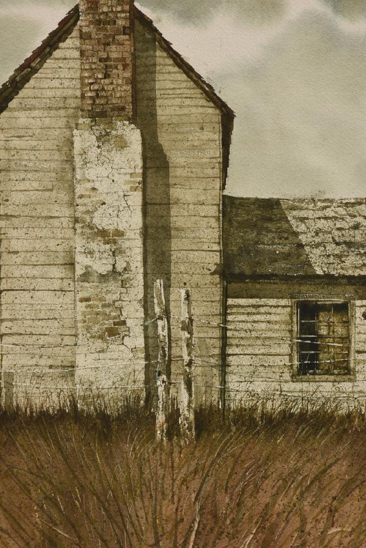 "WELLS (American 20th Century) A PAINTING, ""Farm House,"" - 8"